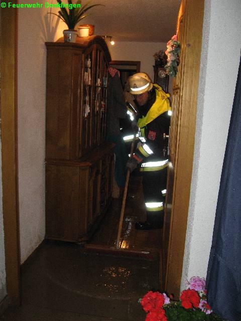 (c) Feuerwehr Denklingen: 21.07.07 - 20:14 Uhr - Unwetter, Wassereinbruch