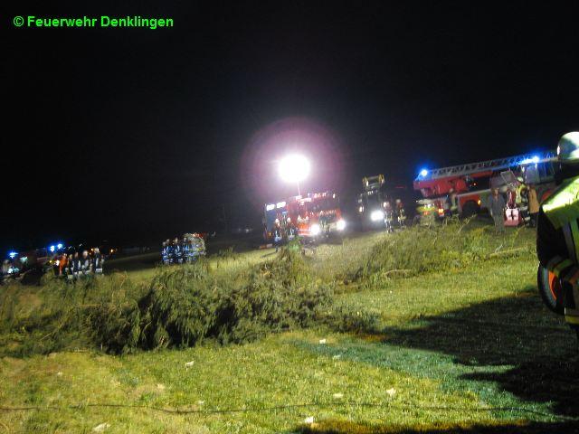 (c) Feuerwehr Denklingen: 27.12.08 - 16:42 Uhr - Höhenrettung, Gleitschirmflieger in Baum