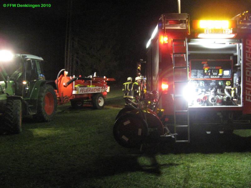 (c) Feuerwehr Denklingen: 30.03.2010 - 20:40 Uhr - Brand Nachschau, Epfach