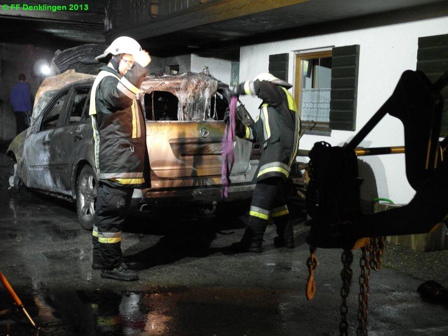 (c) Feuerwehr Denklingen: 16.06.2013 - 02:09 Uhr - Garagenbrand, Denklingen