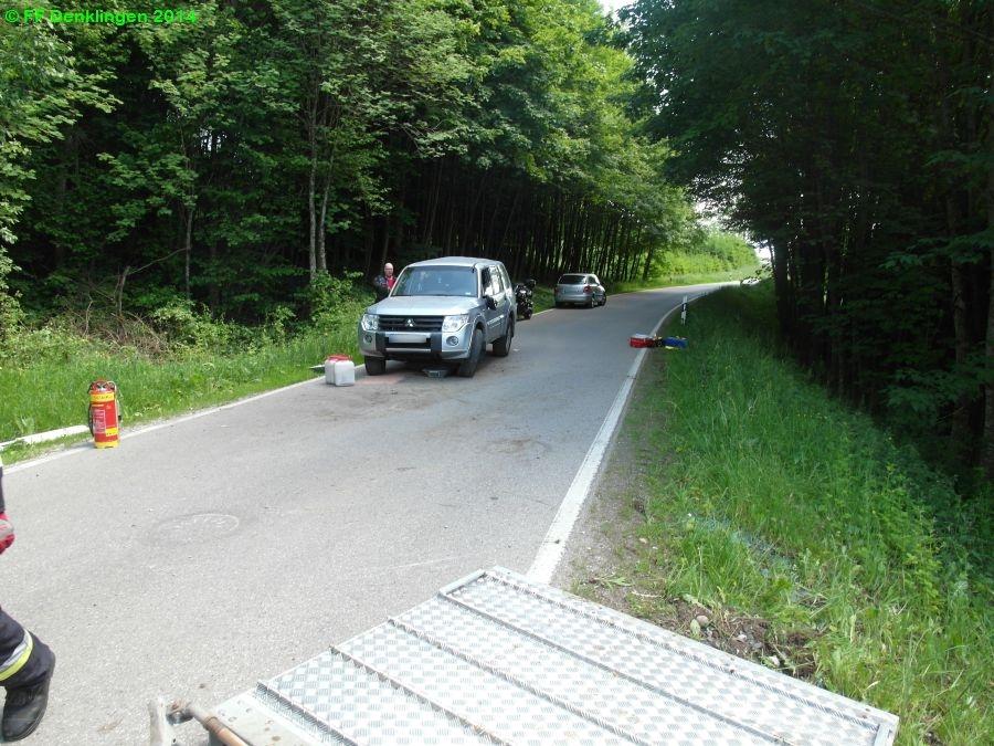 (c) Feuerwehr Denklingen: 06.06.2014 - 14:29 Uhr - Verkehrsunfall, Weihertalstraße