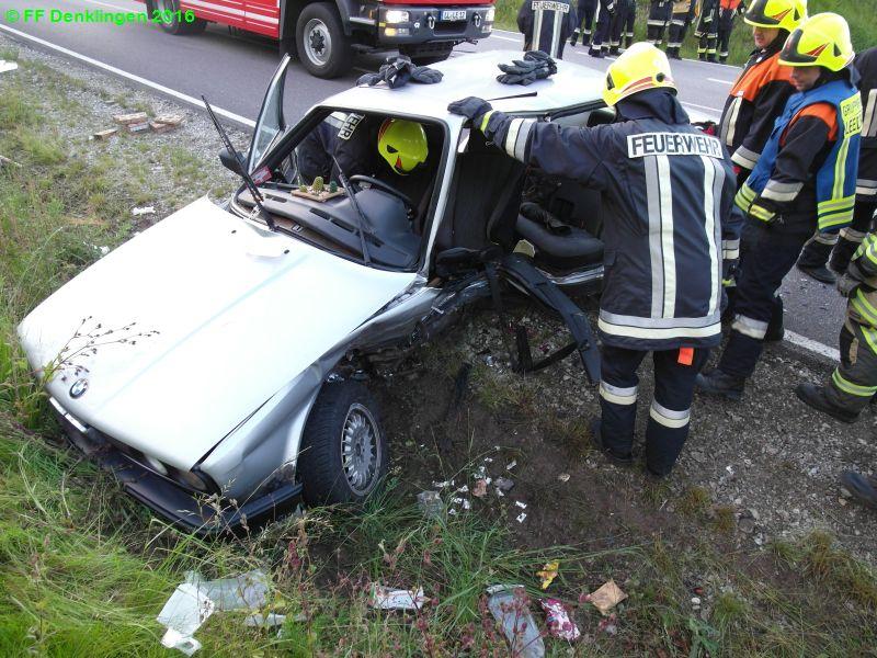 (c) Feuerwehr Denklingen: 09.06.2016 - 19:57 Uhr - Verkehrsunfall, Leeder-Lechmühlen