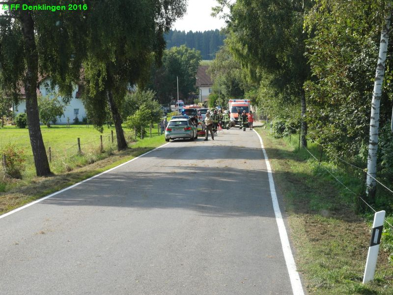 (c) Feuerwehr Denklingen: 02.09.2016 - 15:13 Uhr - Verkehrsunfall, Dienhausen