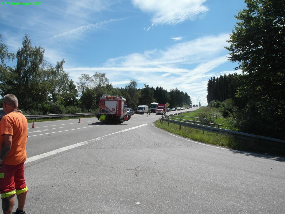 (c) Feuerwehr Denklingen: 14.08.2017 - 13:09 Uhr - Verkehrsunfall, B17