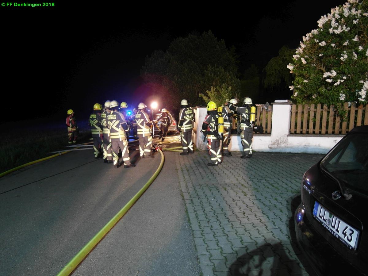(c) Feuerwehr Denklingen: 18.05.2018 - 22:28 Uhr - Zimmerbrand, Leeder