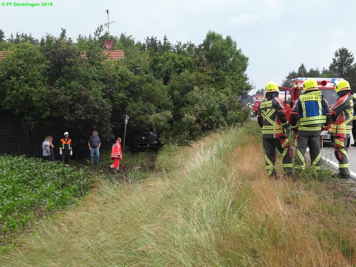 (c) Feuerwehr Denklingen: 08.06.2018 - 18:14 Uhr - Verkehrsunfall, B17