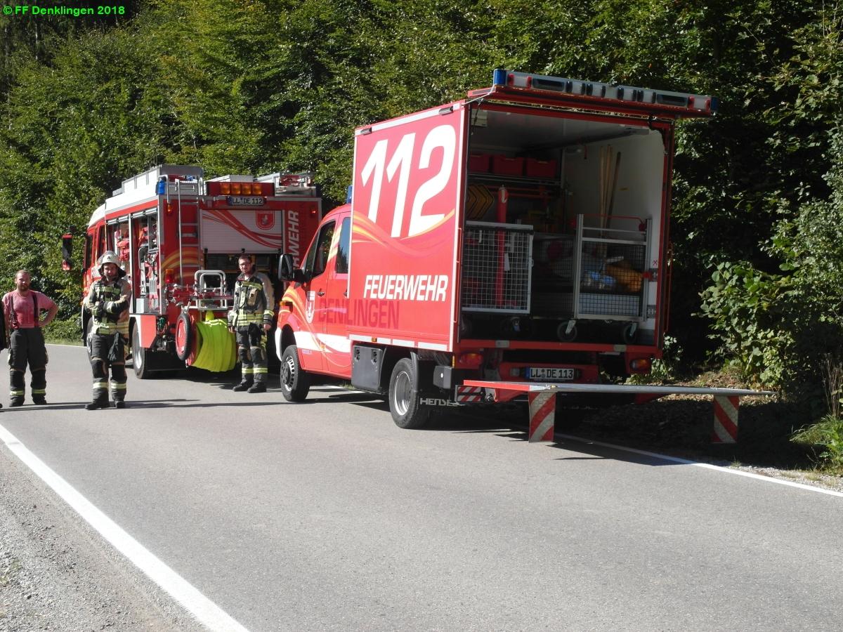 (c) Feuerwehr Denklingen: 30.09.2018 - 11:45 Uhr - VU Motorrad, Dienhausen
