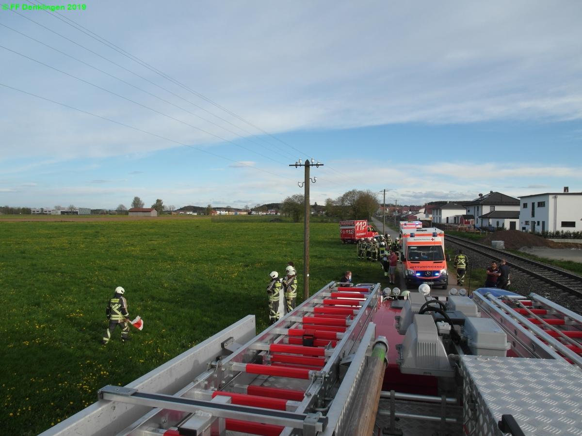 (c) Feuerwehr Denklingen: 23.04.2019 - 18:33 Uhr - Verkehrsunfall, Denklingen