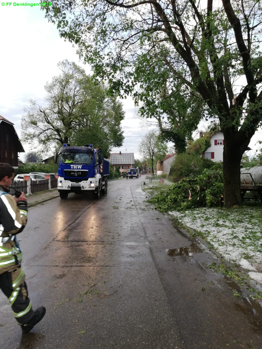 (c) Feuerwehr Denklingen: 10.06.2019 - 17:08 Uhr - Unwetter, Denklingen