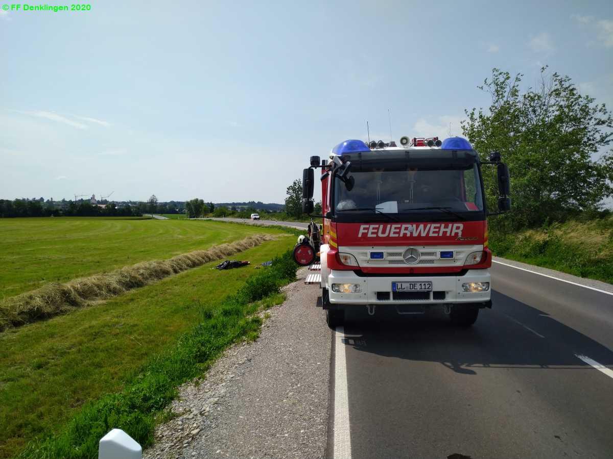 (c) Feuerwehr Denklingen: 26.06.2020 - 14:36 Uhr - Verkehrsunfall, Denklingen