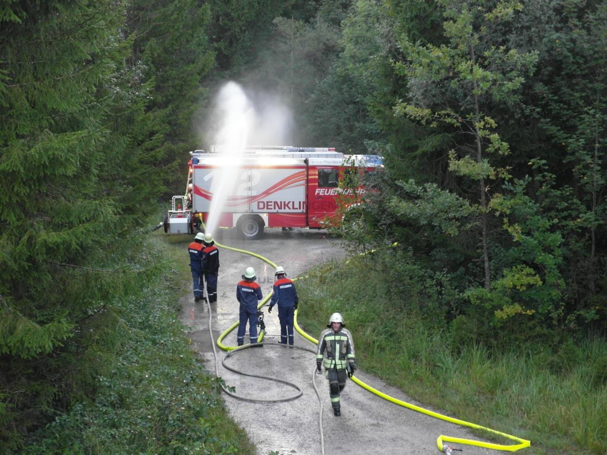 (c) Feuerwehr Denklingen: 28.08.17 - Wasserentnahme, Lech
