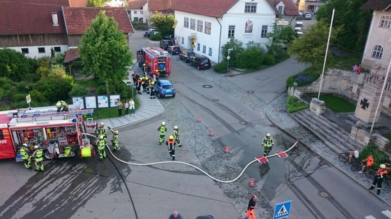 (c) Feuerwehr Denklingen: 06.06.16 -  Gemeinschaftsübung in Denklingen