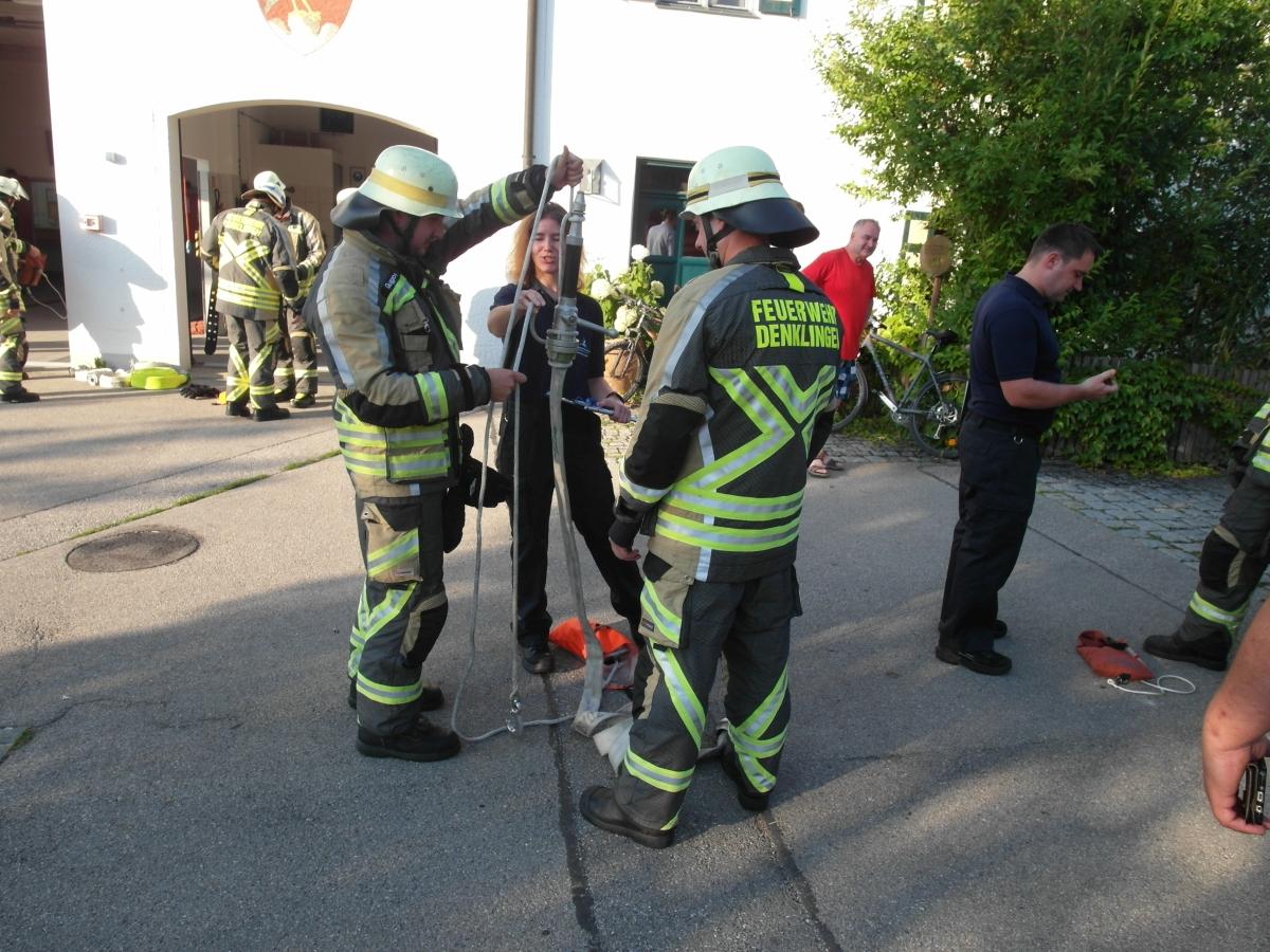 (c) Feuerwehr Denklingen: 26.07.18 - LAZ Löschen