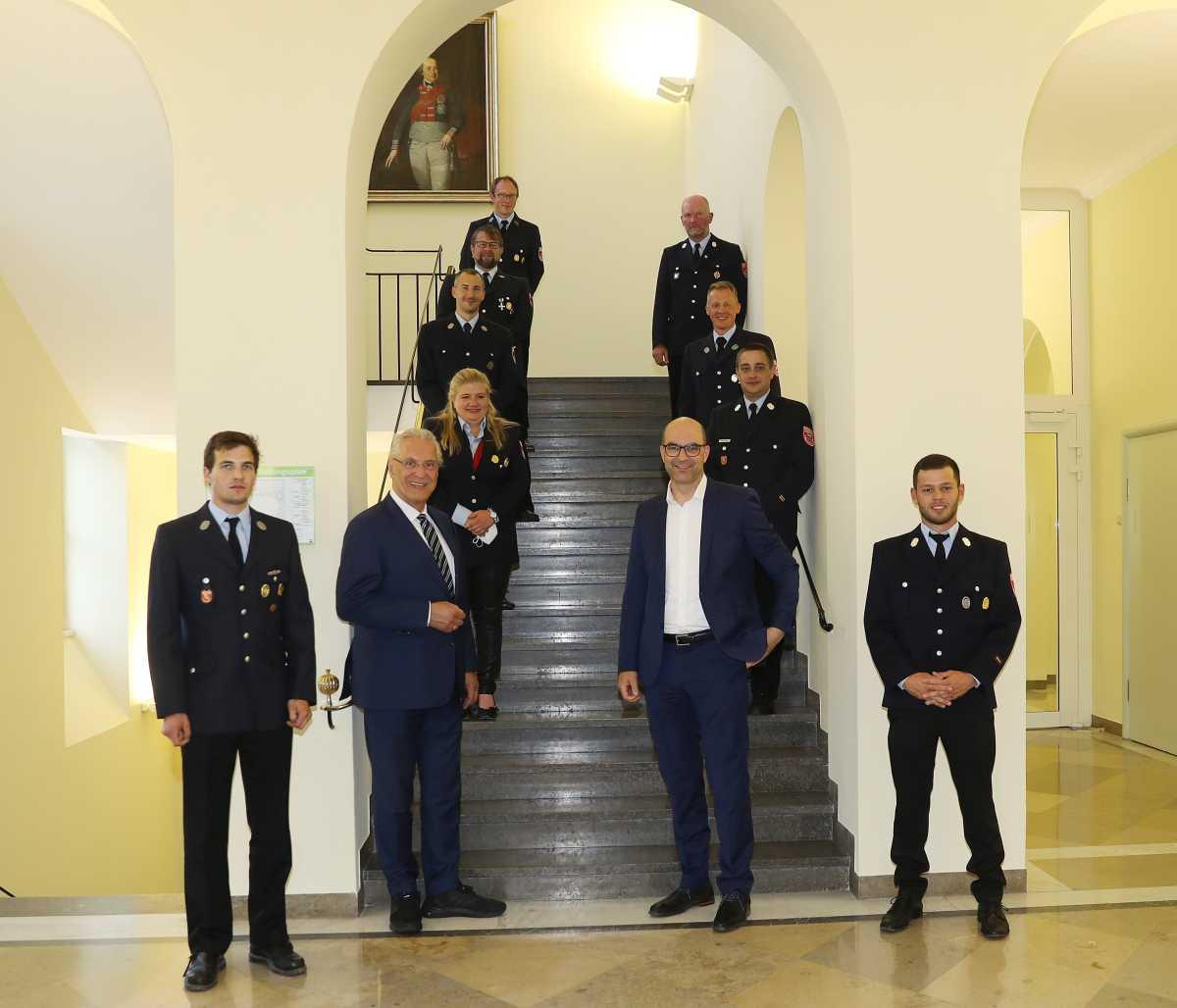 (c) Feuerwehr Denklingen: 15.06.21 - Besuch im Staatsministerium
